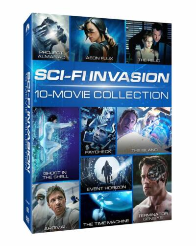SCI-FI 10 MOVIE COLLECTION: Terminator: Genisys, Aeon Flux + more! US Rg1 DVD sp