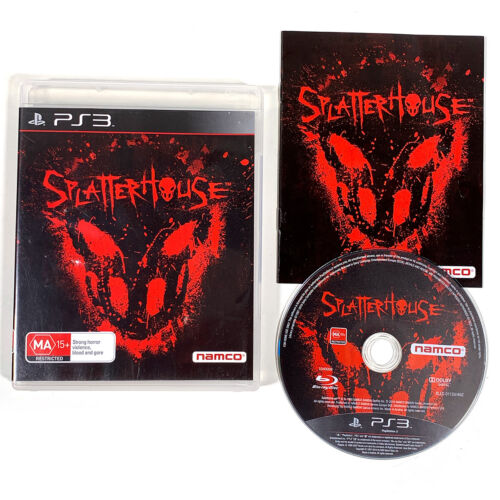 Splatterhouse PS3 Playstation 3 Splatter House with Manual AU