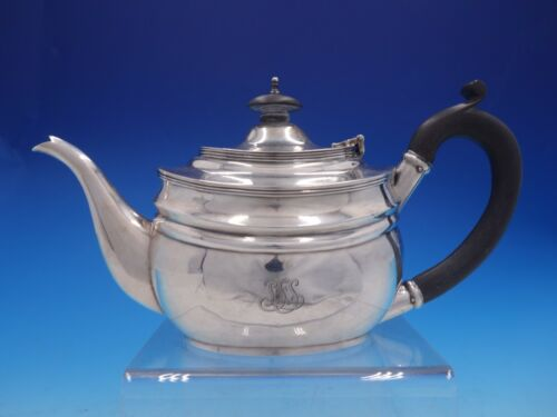 Estate Period English Silver Coffee Pot with Ebony Handle and Finial (#4268)