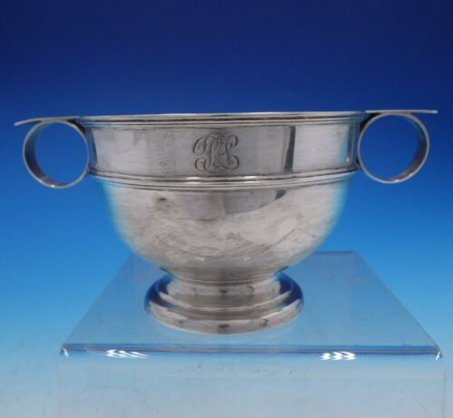 Estate English Silver Sugar Bowl with Handles by William Aitken (#4239)