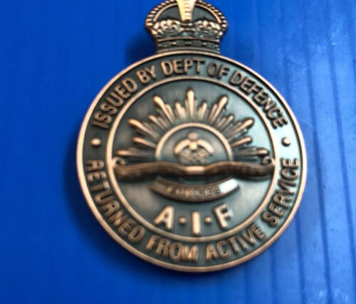 Returned From Active Service Badge AIF #badges#Activeservice#worldwars1914 - 1918 (WWI) - 13962