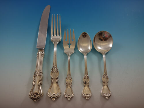 Marlborough by Reed and Barton Sterling Silver Flatware Set Service Dinner 40 pc