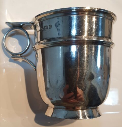 Birmingham Sterling Silver Christening Cup, c1919, 105gms Good Condition