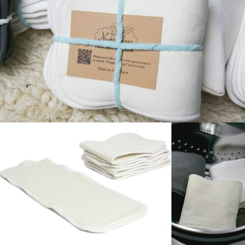 4 Layers Hemp Cotton Insert Booster Cloth Nappy MCN Use (5pcs/set) ECO Friendly