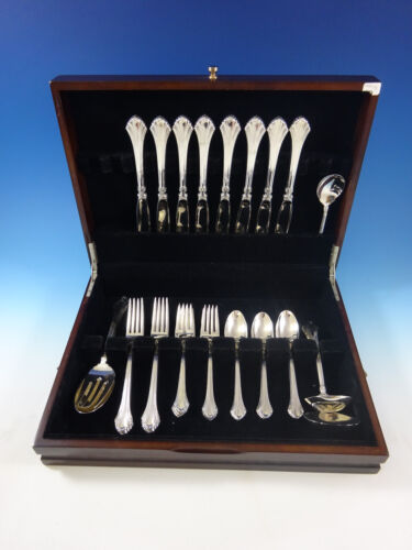 French Regency by Wallace Sterling Silver Flatware Set For 8 Service 37 Pieces