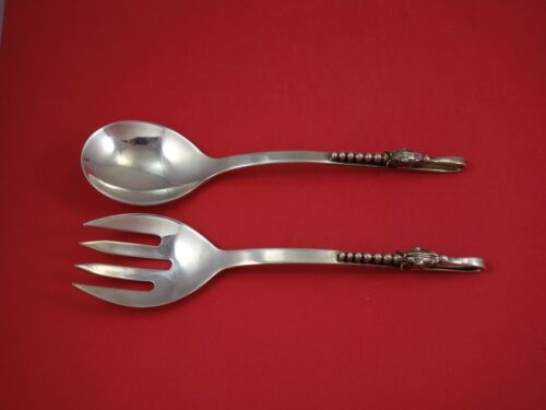 """Blossom by Sanborns Mexican Sterling Silver Salad Serving Set 2-Piece 8 3/4"""""""