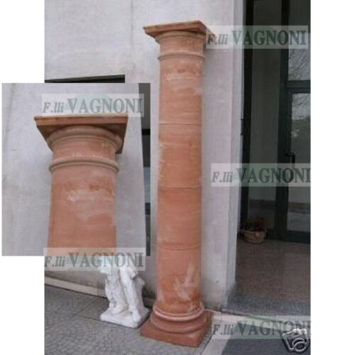 COLONNA PERGOLA CM. 235 CAPITELLO IN TERRACOTTA TOSCANA-GAZEBO TUSCAN CULUMN