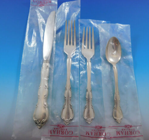 Rose Tiara by Gorham Sterling Silver Flatware Set for 6 Service 24 Pieces New