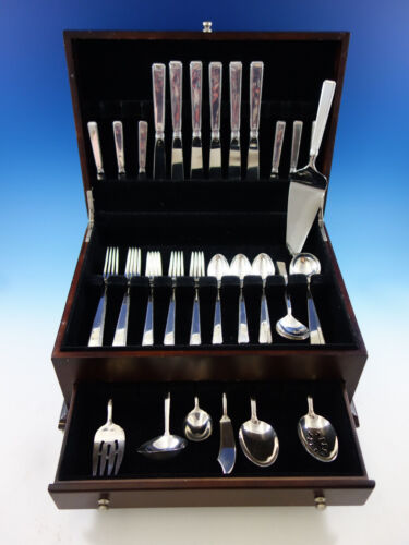 Old Lace by Towle Sterling Silver Flatware Set for 6 Service 43 Pieces