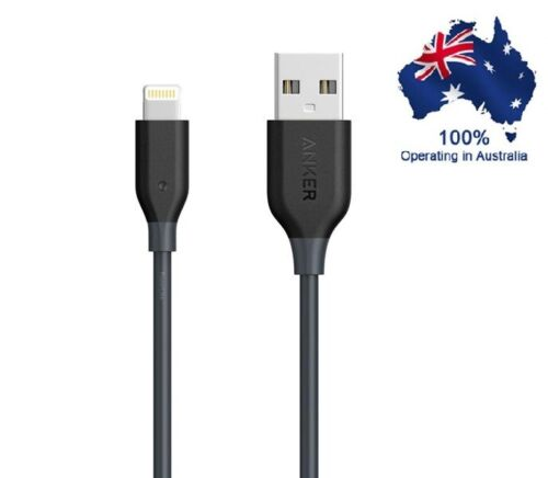 Anker A7101H22 PowerLine 0.9m iPhone/iPad Fast Charging Cable - Black