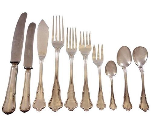 Baroque aka Barock by Koch & Bergfeld Germany 800 Silver Flatware Set Service