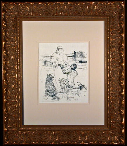 The Declaration Original Lithograph by Toulouse-Lautrec Framed Wittrock 305