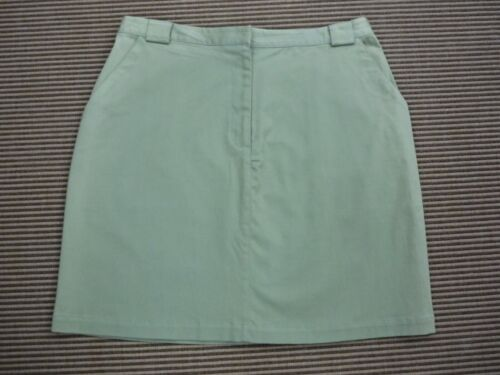 Westbound Ladies Smart Pale Green Cotton Straight Skirt Size 16