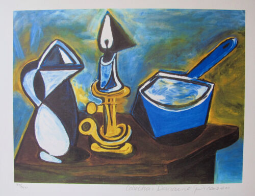 Pablo Picasso STILL LIFE WITH CANDLE Estate Signed Limited Edition Art Giclee