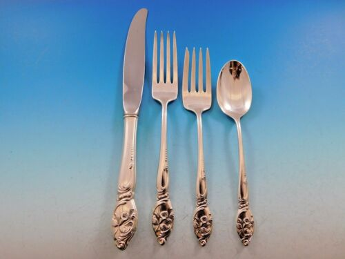 Enchanting Orchid by Westmorland Sterling Silver Flatware Set Service 32 Pieces