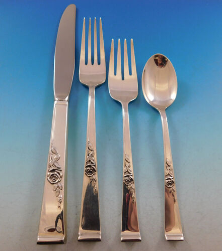 Classic Rose by Reed & Barton Sterling Silver Flatware Set for 12 Service 54 pcs