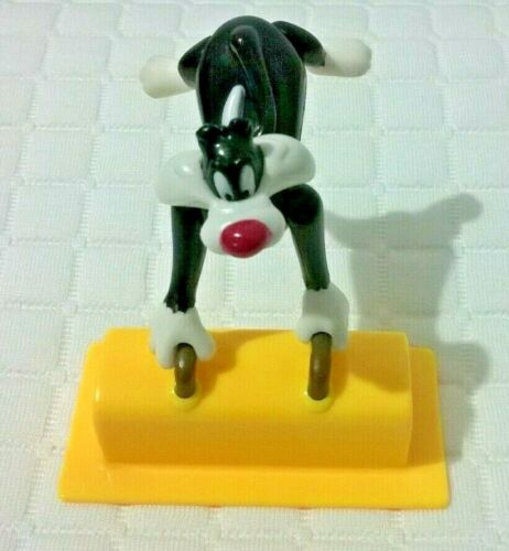 Vintage Looney Tunes Sylvester Cat Figure Moveable Swivel Head & Limbs 8cm