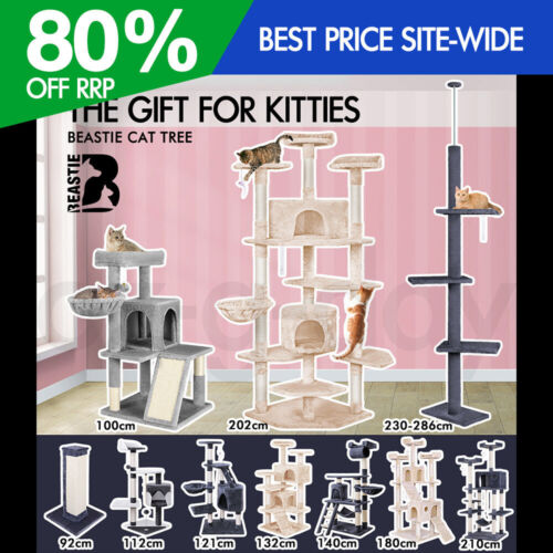 BEASTIE Cat Tree Scratching Post Scratcher Tower Condo House Furniture Bed Stand <br/> Various Designs, Formaldehyde Free, 5% off code PLAID5