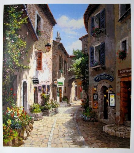 """S. SAM PARK """"MORNING IN PROVENCE"""" Hand Signed Large Serigraph Art"""