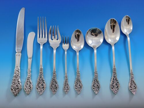 Florentine Lace by Reed & Barton Sterling Silver Flatware Set Service 117 Pieces