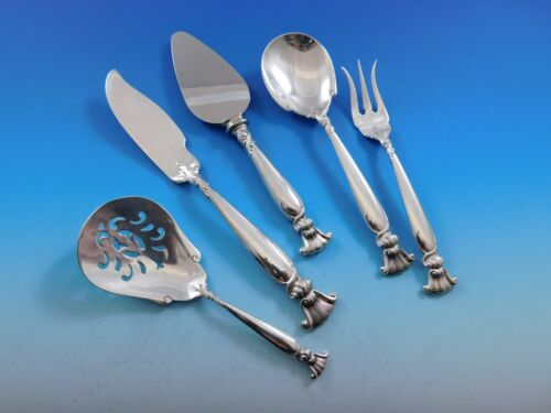 Romance of the Sea by Wallace Sterling Silver Essential Serving Set Small 5-pc
