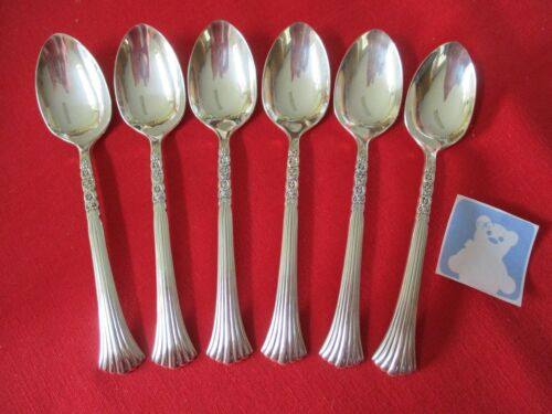 (6) Oneida LTD Silverplate Teaspoons, Floral Queen  #22