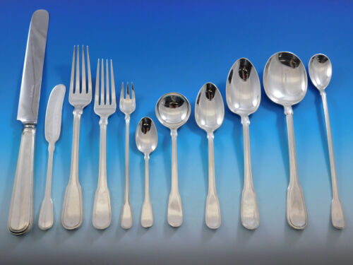 Hamilton by Tiffany and Co Sterling Silver Flatware Set 8 Service 92 pcs Dinner