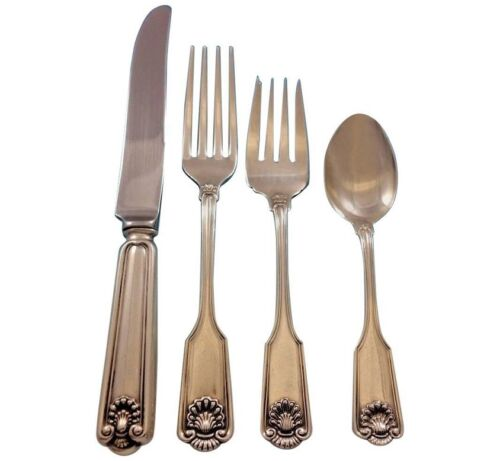 Fiddle Shell by Frank Smith Sterling Silver Flatware Set for 8 Service 32 pcs