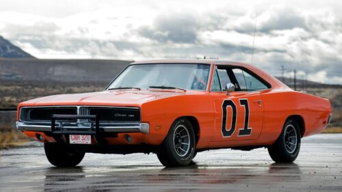 """1969 Dodge Charger General Lee Auto Car Art Silk Wall Poster Print 24x36"""""""