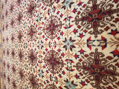 Masterpiece Antique Muted Dye Cross Patterned Wool Pile Hereke Rug 7x10ft
