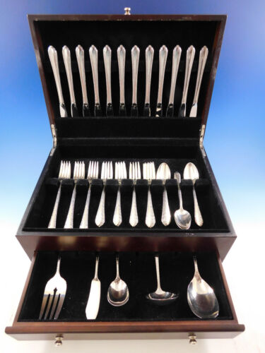 Wildflower by Royal Crest Sterling Silver Flatware Set 12 Service 53 pcs Grille