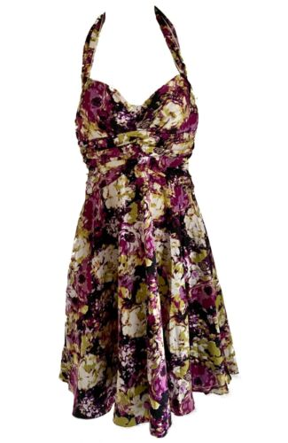 NEW RUBY ROX PINK/LIME FLORAL SWING DRESS Size 6/8
