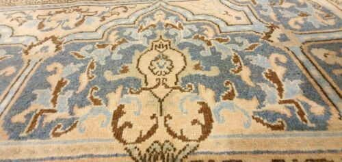 Antique 1930-1940's Distressed Wool Pile Muted Natural Dye Oushak Rug 9x13ft