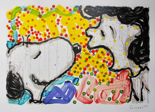 TOM EVERHART DRAMA QUEEN Hand Signed Lithograph SNOOPY LUCY PEANUTS