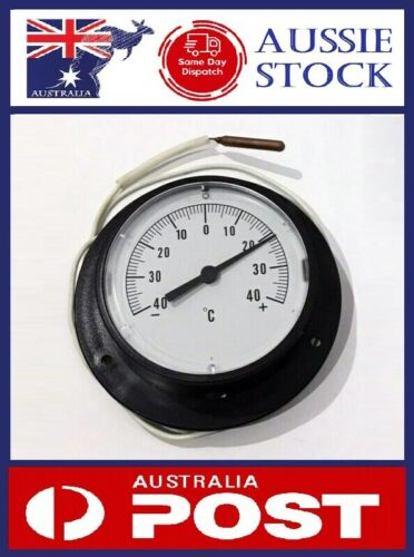 Coldroom Fridge Round Analog 132mm Thermometer -40 to +40 Degrees Dial Capillary