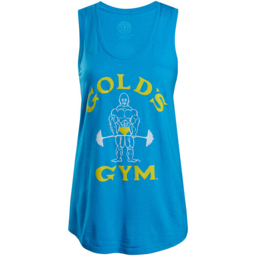 Gold's Gym Women's Classic Joe Racerback Tank Top - Blue <br/> Exclusive Seller of Gold's Gear on eBay