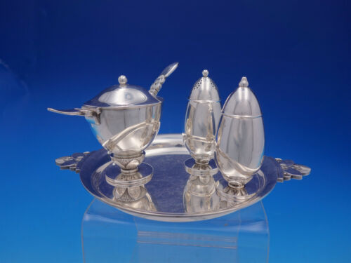 Cactus by Georg Jensen Sterling Silver Condiment Set 5-piece #629 (#4610)