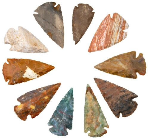 *** 20 Pc Lot Flint Arrowhead OH Collection Project Stone Spear Point ***