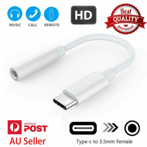 USB Type C to 3.5mm Headphone Audio Aux Stereo Cable Adapter For Samsung Google