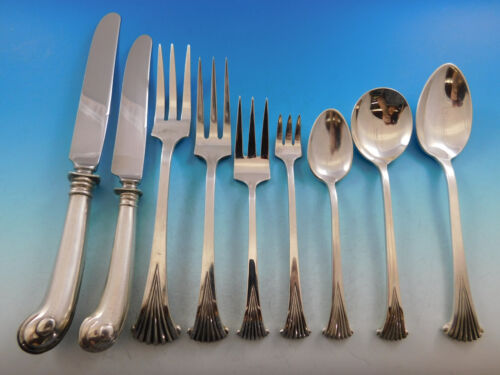 Onslow by Tuttle Sterling Silver Flatware Service For 8 Set 77 Pieces Old Dinner