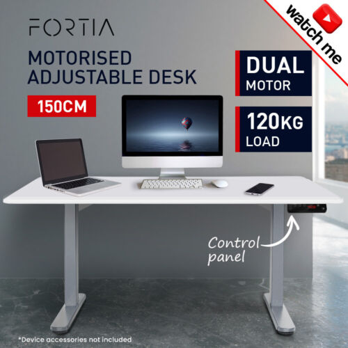 PRESALE 150cm Height Adjustable Standing Desk Electric Motorised Sit Stand <br/> PRE-ORDER & SAVE: Dispatch 13/04