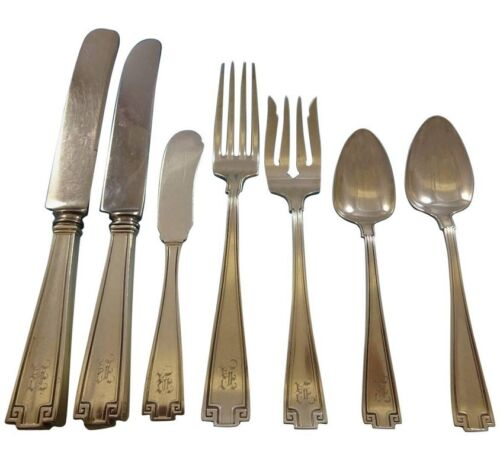 Etruscan by Gorham Sterling Silver Flatware Set Service For 12 Service 79 Pieces