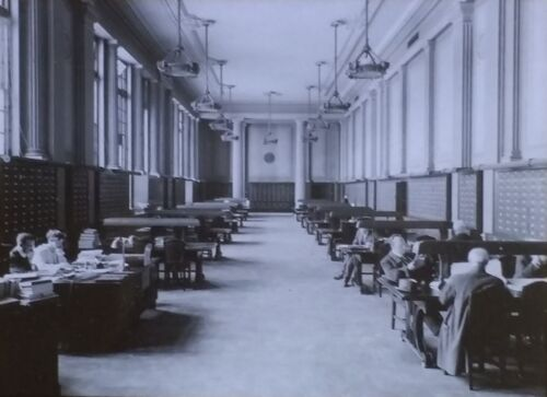 1913, Periodical Reference Room, Albany, New York, Magic Lantern Glass Slide