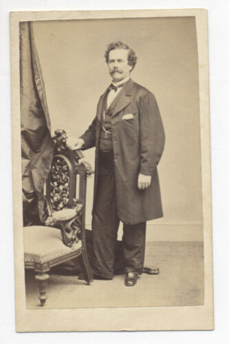 SAMUEL W. WOODHOUSE, SITGREAVES EXPEDITION NATURALIST, 1860's SIGNED CDV PHOTO