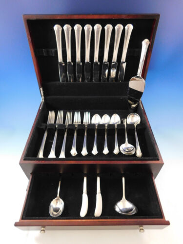 Chippendale by Towle Sterling Silver Flatware Set for 8 Service 51 pieces Dinner