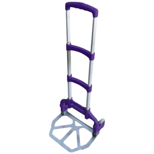 Folding Foldable Compact Lightweight Luggage Trolley Purple