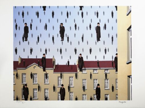 Rene Magritte - Golconda (signed & numbered lithograph)