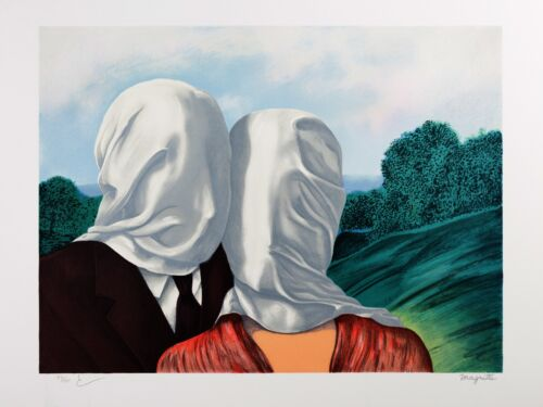 Rene Magritte - The Lovers (signed & numbered lithograph)