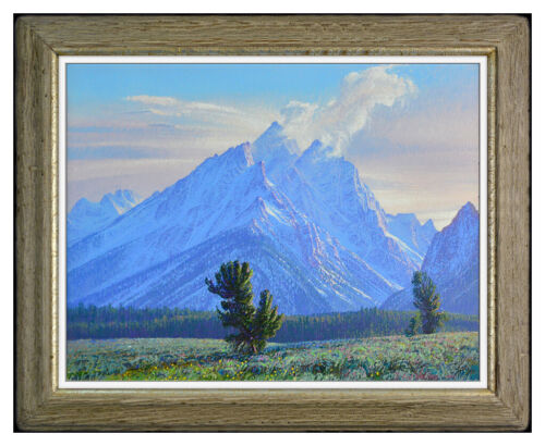 Curt Walters Original Oil Painting On Canvas Signed Mountain Landscape Artwork