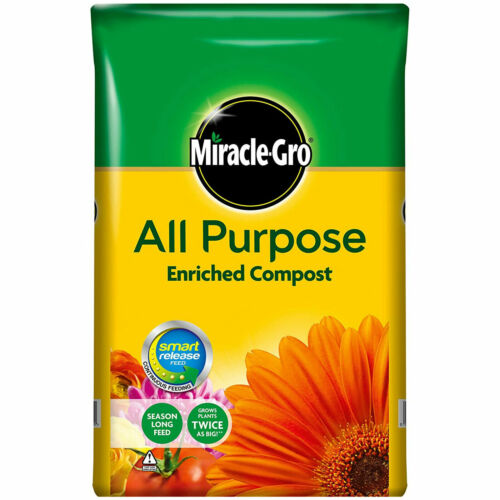 Miracle Gro All Purpose Enriched Compost 40L Home Garden Planting Growing Soil